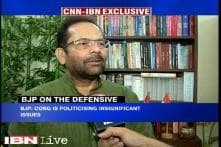 Congress politicising insignificant issues, says Union Minister Naqvi