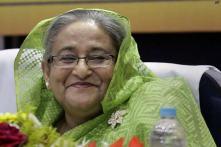 Bangladesh Prime Minister Sheikh Hasina meets Pranab Mukherjee, condoles demise of his wife