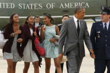 'Dad-in-chief' Obama takes daughters for night out in the Big Apple