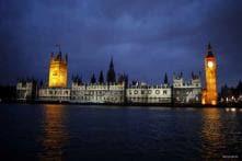 Sikh protest blocks road outside British parliament