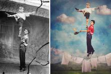 Artist creates beautiful surreal images out of old black & white photos