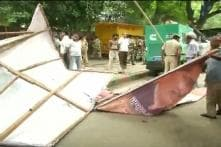 Scuffle at Jantar Mantar after police evict ex-servicemen to sanitise area ahead of Independence Day