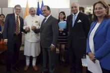 Look who dropped by during Modi-Hollande meeting in US!