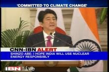 Abe urges India to use nuclear energy responsibly