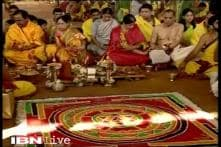 Telangana CM spends crores on maha yagam, says not a penny taken from state exchequer
