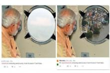 PIB posts edited photo of PM's aerial survey of Chennai, Twitter goes abuzz over faux pas