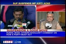 Suspension a good move, says BJP leader Sushil Modi