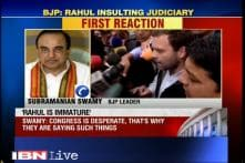Rahul Gandhi's remarks an insult to judiciary, says Subramanian Swamy