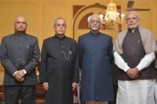 Former defence secretary RK Mathur takes oath as new CIC