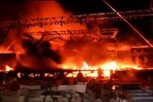What led to massive fire at 'Make In India' event in Mumbai