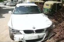 Speeding BMW Rams into Car And Bike in Noida, 4 injured