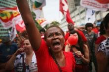 Brazilians demonstrate against impeachment of President Dilma Rousseff