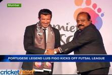 Portuguese legend Luis Figo kicks off Futsal League