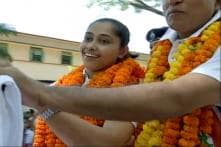 Dipa Karmakar Arrives in Agartala to a Grand Welcome
