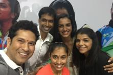 Sindhu, Sakshi, Dipa, Coach Gopichand Presented BMW Cars