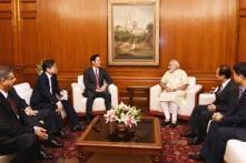 Prime Minister Narendra Modi Meets Samsung Global VP Over Make in India Plans