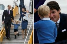 Prince George Shuns High-Five, Low-Five From Canadian PM Justin Trudeau