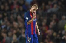 Calf Injury Sidelines Jeremy Mathieu At Worst Possible Time For Barca
