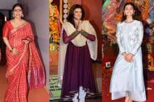 Kajol, Sushmita and Alia Celebrate Durga Puja With Loved Ones
