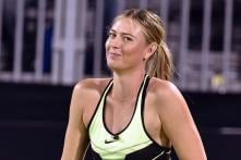 Smiling Maria Sharapova Plays Las Vegas Charity Event
