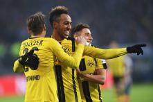German Bundesliga: Bayern Munich Draw, Dortmund's Aubameyang Scores Four