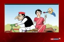 Neelabh Toons: Priyanka Plays Active Role in SP-Congress Alliance in UP