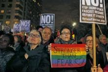 Actors Robert De Niro, Mark Ruffalo Lead Massive Anti-Trump Rally