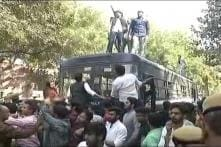 Eight Cops Injured in ABVP-AISA Clashes at Ramjas College
