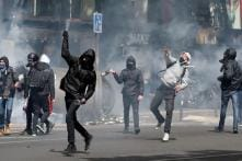 French Riot Police Clash With Youths Protesting Presidential Election
