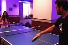Rohit Sharma Takes a Break From IPL to Play TT With His Wife