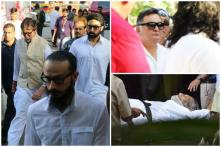 Amitabh Bachchan, Rishi Kapoor and Others Attend Vinod Khanna's Funeral