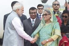 PM Modi Sets Protocol Aside, Receives Sheikh Hasina at Airport