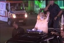 PM Modi Leads Roadshow From Airport to Circuit House in Surat