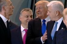 Donald Trump 'Shoves' a PM at NATO Photo-op and Twitter Goes Wild