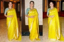 Complement Handloom Sarees In Winter With Silver Jewellery