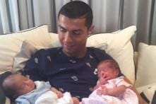 Cristiano Ronaldo Welcomes Newborn Twins With Open Arms