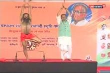 Away from Farmer Protests, Agriculture Minister Takes Yoga Break With Ramdev