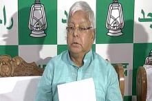 Lalu Incites Split, Says JD(U) MLAs Can Form Govt With RJD and Congress
