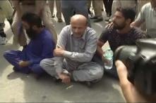 MLA Engineer Rashid Leads Anti-GST Protest in Jammu And Kashmir
