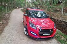 Maruti Suzuki Swift Modified to Look Like Mini Nissan GT-R