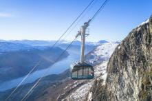 Norway's Newest Attraction Billed as One of The Steepest Cable Cars in The World