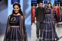 LFW 2017: Saiyami Kher Turns Show Stopping Bride for Nachiket Barve