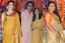 Bollywood Celebrities at Durga Puja Celebrations in Mumbai