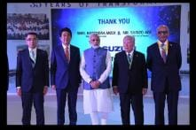 PM Modi and Shinzo Abe Inaugurates Suzuki's New Gujarat Plant Units