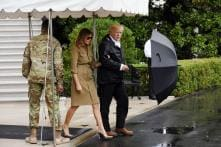 Donald Trump Defends Melania for Wearing Stilettos to Hurricane Area