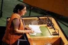 Sushma Sends Veiled Message to China on Fighting Terror During UN Address