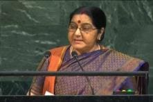 India @ UN LIVE: Sushma Says we Created IITs and IIMs, Pak Created LeT and JeM