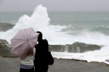 Typhoon Lan Drenches Japan on Election Day, Tens of Thousands Advised to Evacuate
