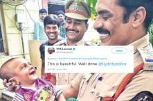 Hyderabad Cop's Pic With Kidnapped Baby He Rescued Is Winning Hearts