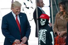 Donald Trump Celebrates Halloween at White House